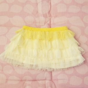 Baby Gap Yellow Ombre Tulle Layered Skirt 12-18m